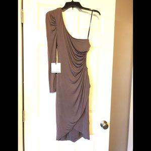NWT Bebe Kardashian Taupe Wrap Dress Size M